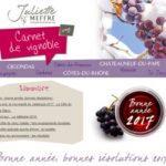 Carnet de Vignoble 9 - Vins Côtes du Rhônes