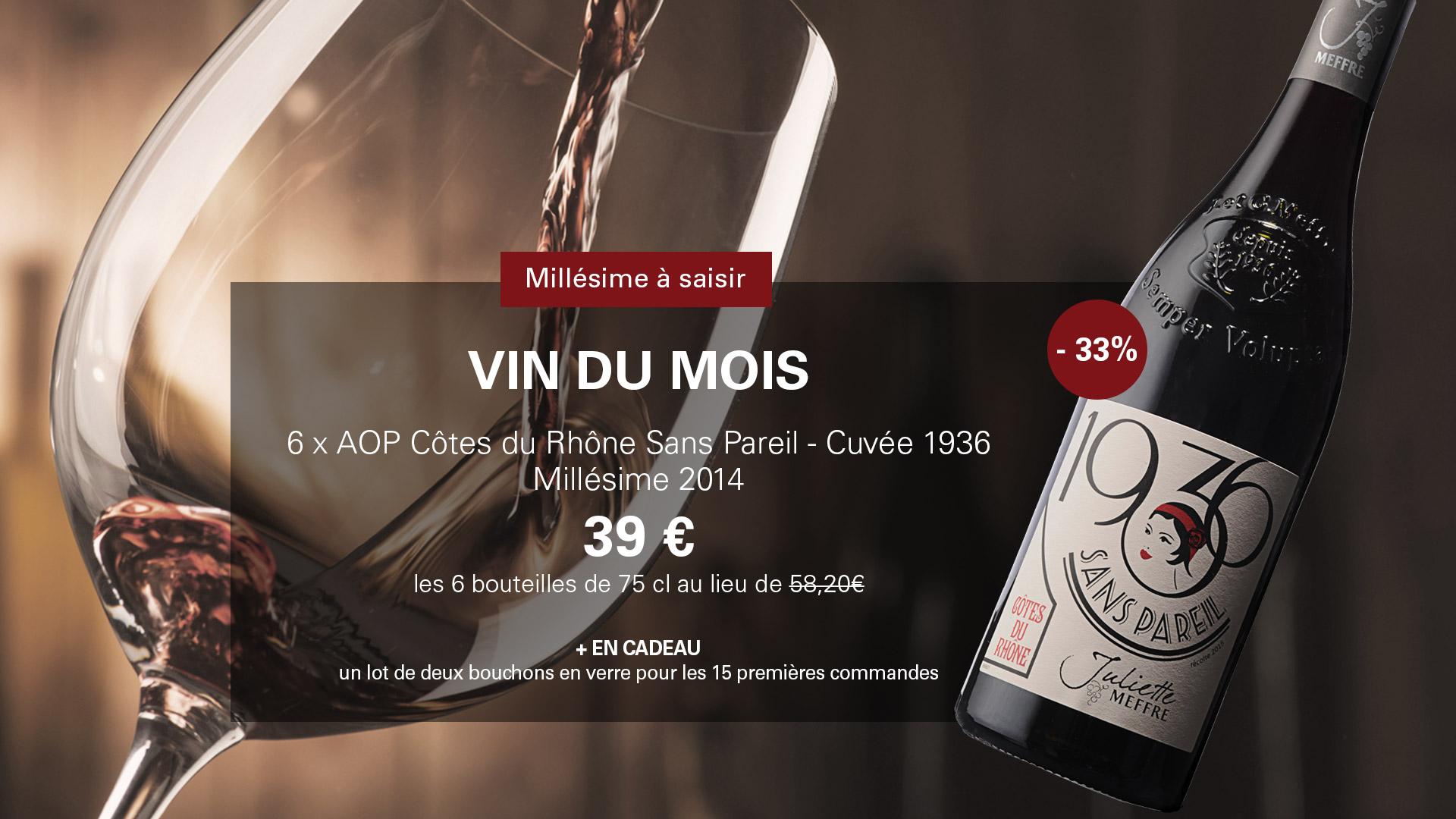 Vin du mois - Côtes du Rhône 1936 en promotion