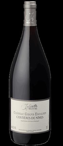 Vin Languedoc - Costières de Nîmes - Grand Escalion Rouge - Magnum - 2014