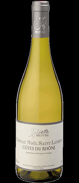Vin Rhône - Côtes du Rhône - Château Noël Saint Laurent - Blanc - 2015