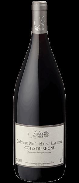 Vin Rhône - Côtes du Rhône - Château Noël Saint Laurent - Rouge - Magnum - 2015