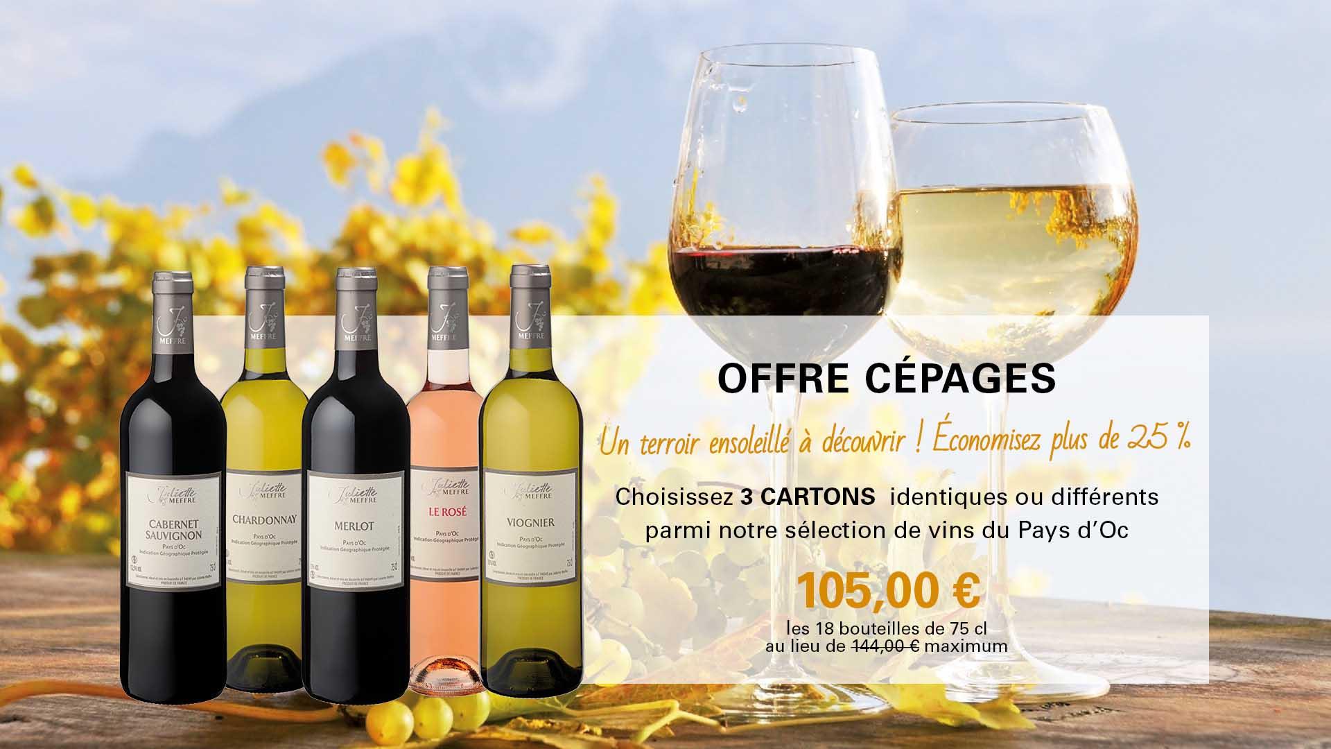Vin du Mois Juliette Meffre - Offre Cépages