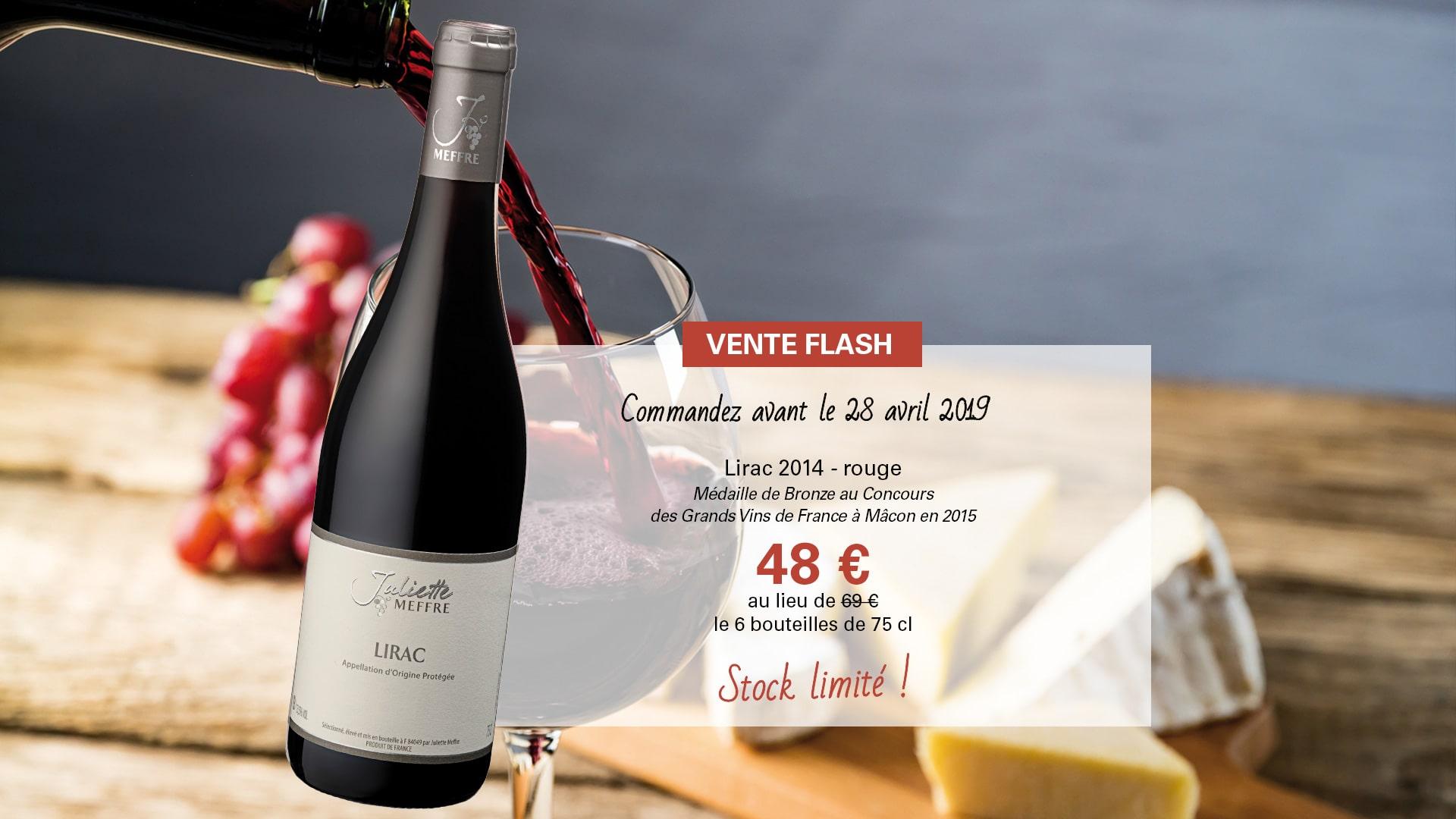 Vente Flash - Lirac 2014