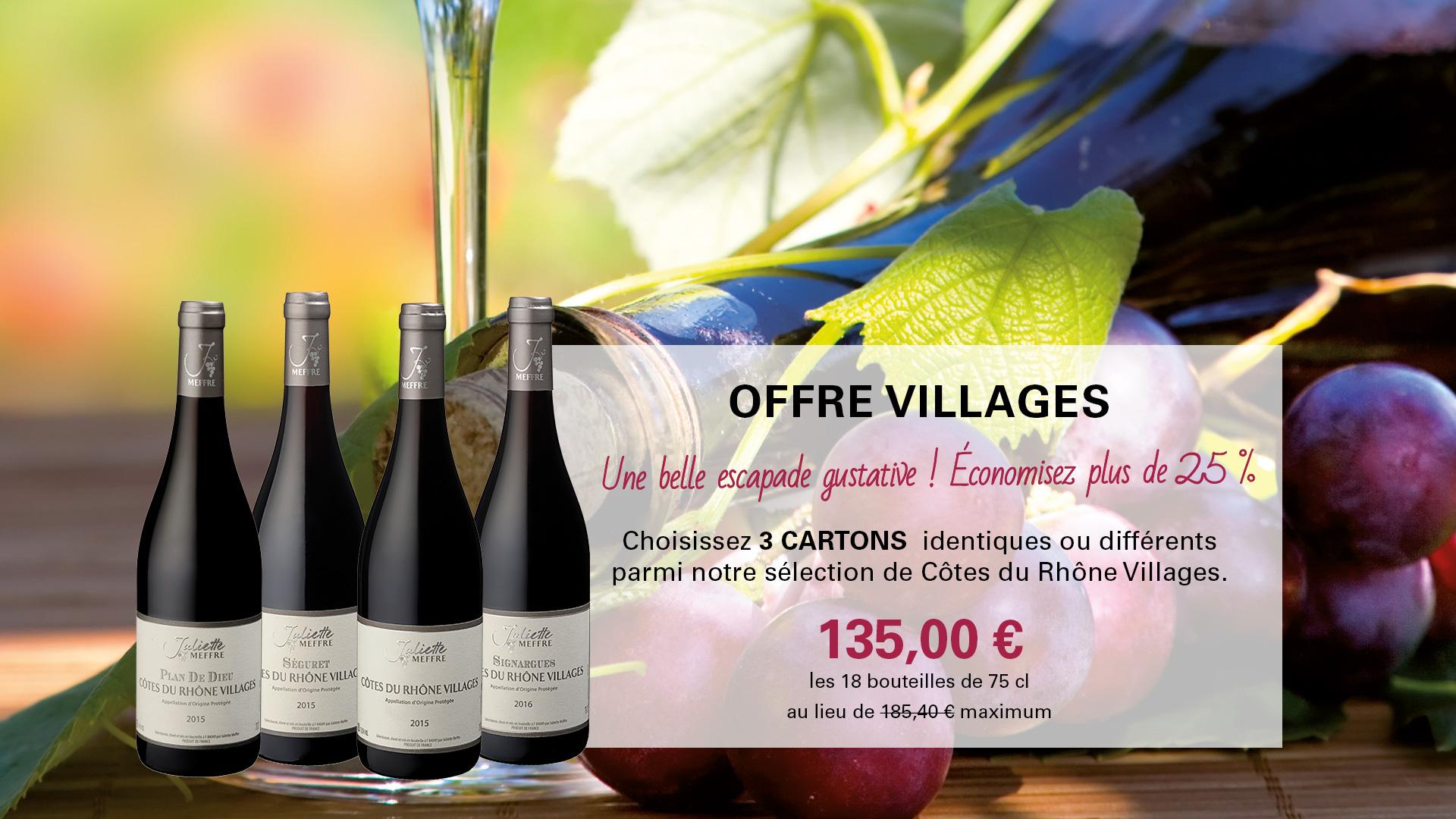 Offre Côtes-du-Rhône Villages Juliette Meffre